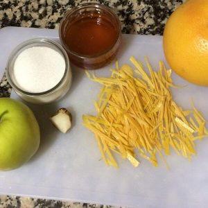 Mermelada de pomelo, manzana, jengibre y miel