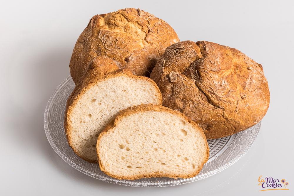 Pan de hogaza sin gluten y sin lactosa