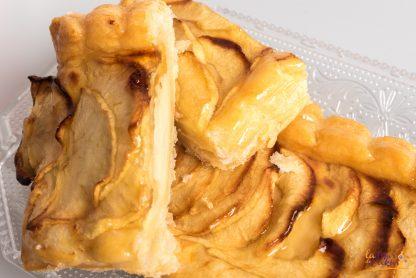 Banda de hojaldre con manzana sin gluten y sin lactosa