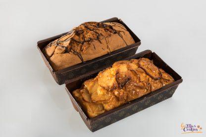 bizcocho con chocolate con manzana sin gluten y sin lactosa