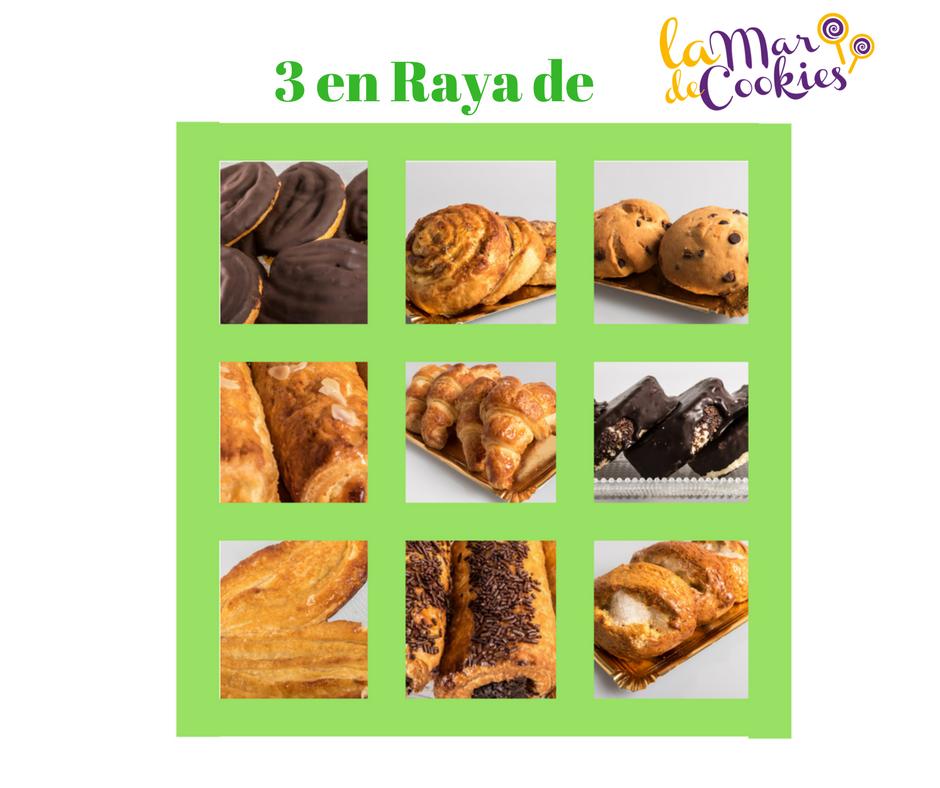 3 en Raya de La mar de cookies